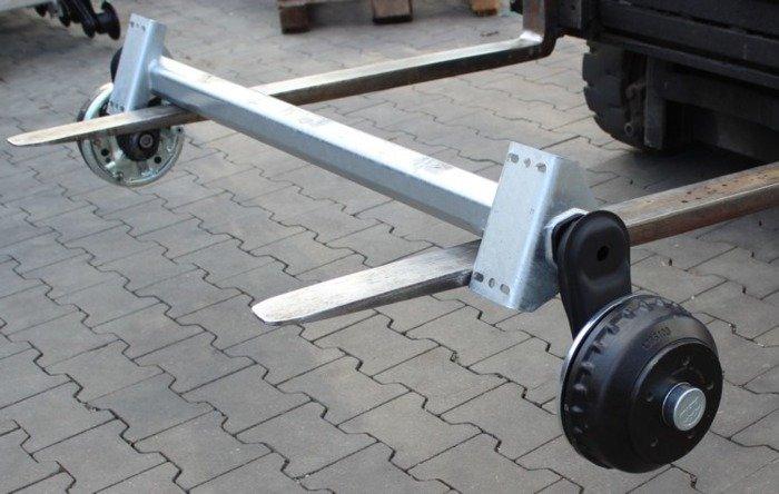 Braked axle for boat trailer AL-KO 1200 mm 1000 kg 5x112 W-PROOF